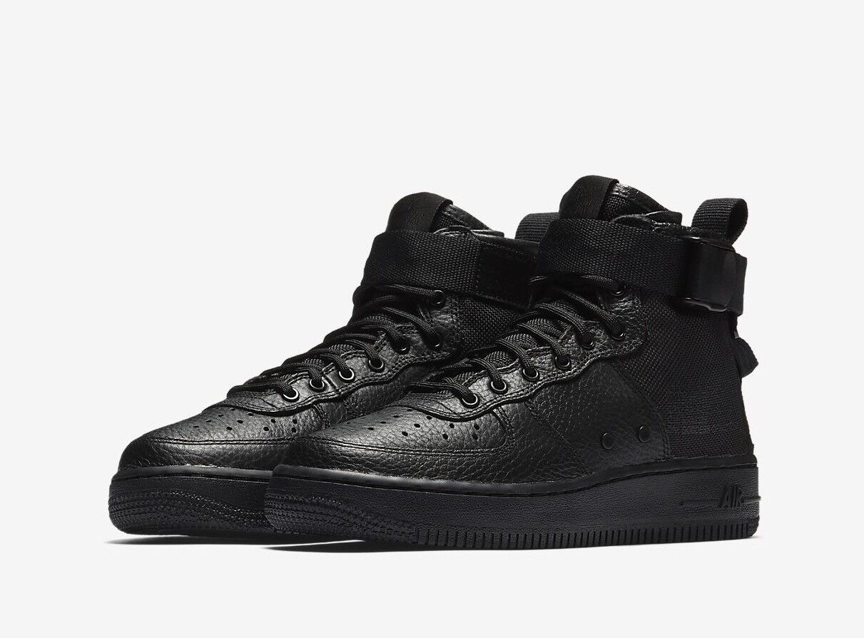 Nike SF Air Force 1 Mid Youth AJ0424-003 Triple Black US 6Y New