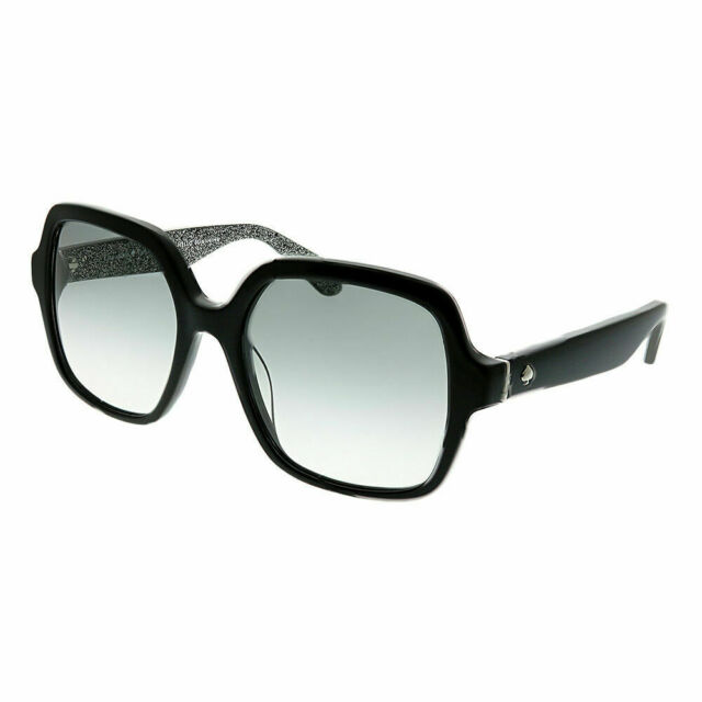 84ef1531a32e Kate Spade Sunglasses Halle/s 0dh4 Black 53mm for sale online | eBay