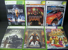 XBOX & 360 6 game lot DOOM Fallout BATTLEFIELD 3 Underground All WORK Fast SHIP