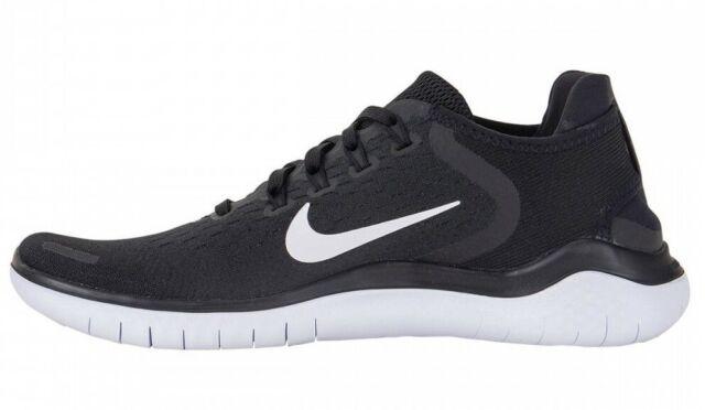 ccfeb43affd31 Nike RN 2018 Mens 942836-001 Black White Knit Running Shoes Size 12 ...