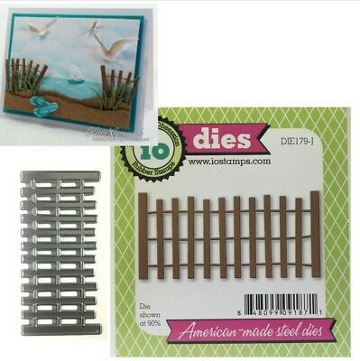 Beach Fence American made Die Cutting Die by Impression Obsession DIE179-J New