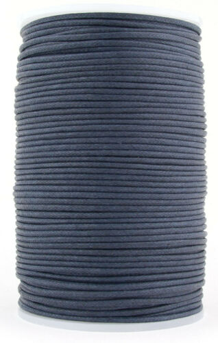 Midnight Blue Round Waxed Cotton Cord 1.5mm 100 meters
