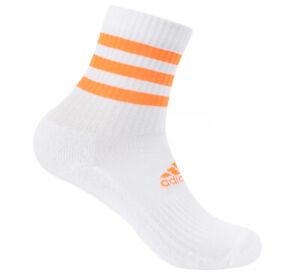 adidas 3 Stripes Cushion Crew Socks 1 Pair White Tennis Running Soccer GN2978