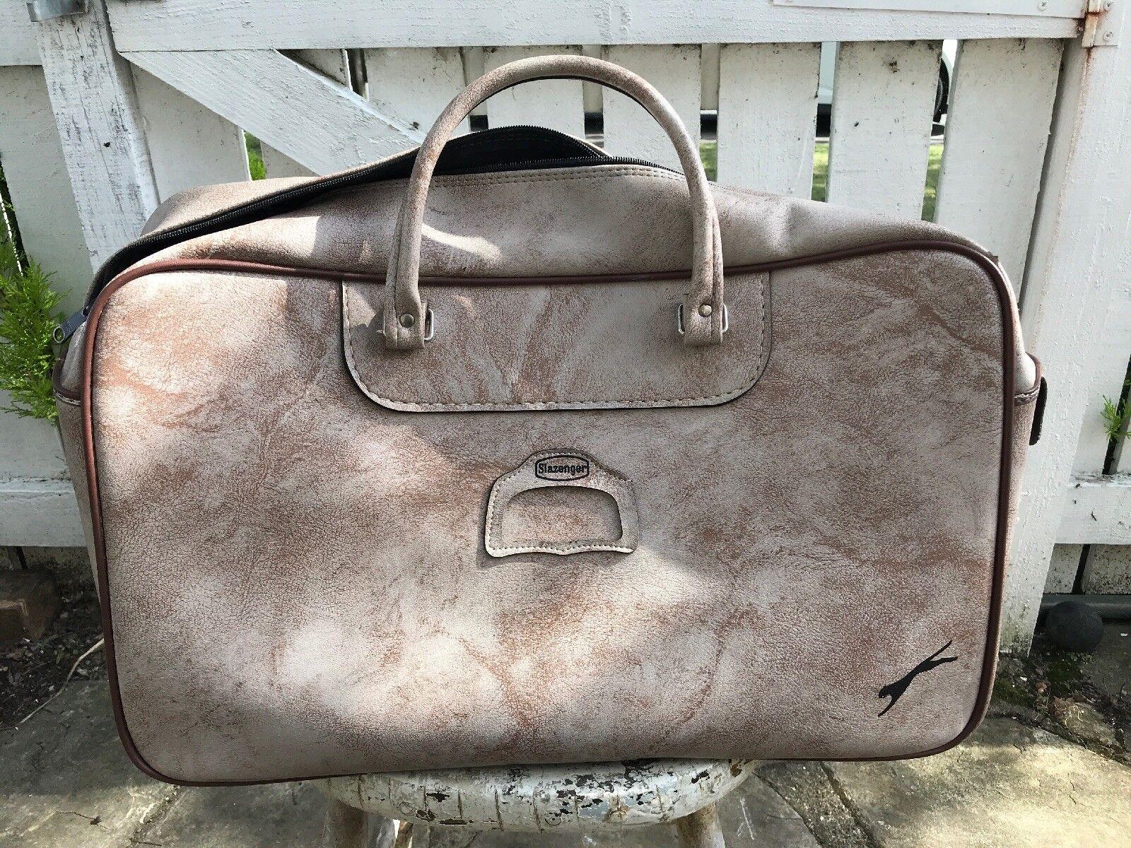 Vintage 1970s Large Slazenger Sports Holdall Bag RARE