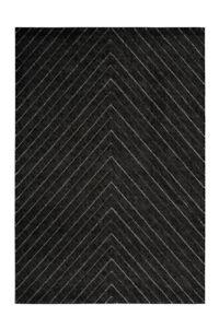Détails sur Moderne Lignes Tapis Design Rayures Noir Anthracite Beige Gris