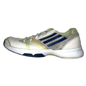 RARE-Vintage-Women-039-s-ADIDAS-Shoes-RETRO-Leather-Sneakers-Yellow-Green-Size-7