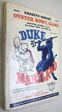 1973 Khedive-Shrine Oyster Bowl Game Norfolk VA Duke Maryland Program X-RARE!!