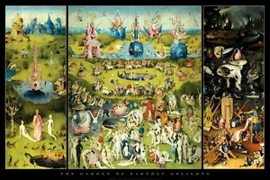 HIERONYMUS-BOSCH-ART-POSTER-GARDEN-OF-EARTHLY-DELIGHTS-24x36-Fine-Triptych