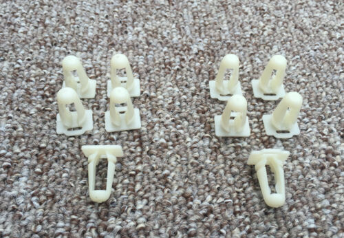 Door Sill Trim Moulding Fastener Clips Protective Fixing For FORD SET OF 10Pcs