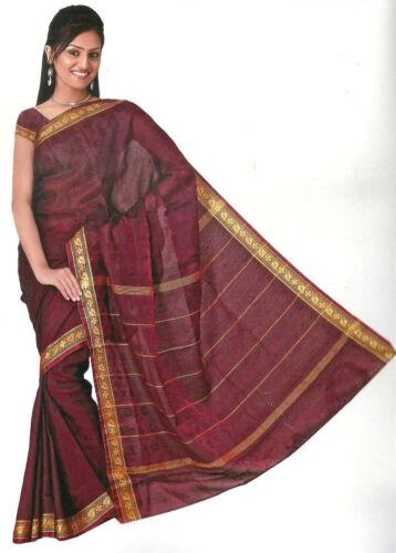 Finito gewickelter Bollywood Sari India Arcobaleno Rosso in 3 dimensioni