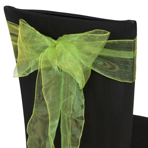 17cm x 280cm Organza Sashes Chair Cover Fuller Bows Wedding Party Decor 1-100pcs