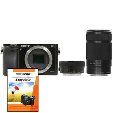 Sony Alpha a6000 Mirrorless Digital Camera & 16-50mm + 55-210mm Lens Black + DVD