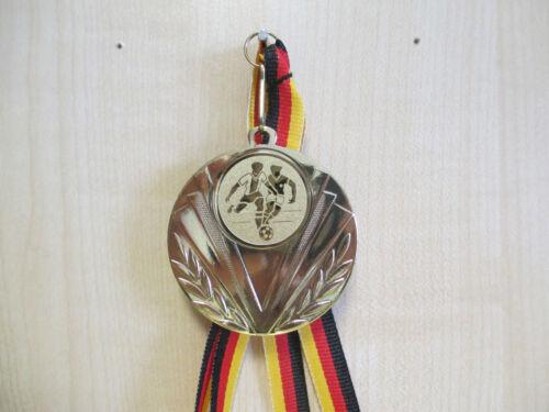 Fußball Pokal Kids 100 x Medaillen mit Deutschland-Bändern Turnier Emblem Ball Medaillen