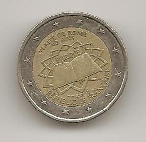 Pièce de 2 EUROS commémorative. FRANCE FR 2007 - Traite de Rome