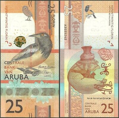 Aruba Pnl B122 25 Florin 2019 Unc