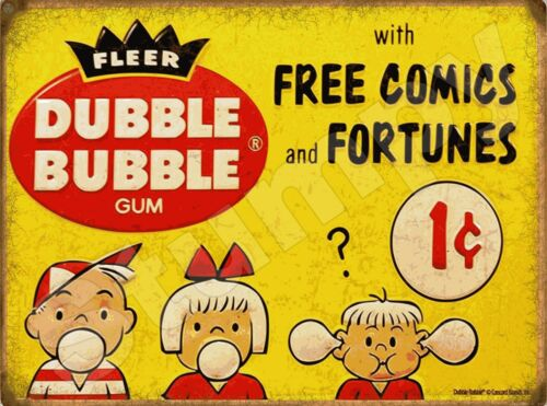 "Fleer Dubble Bubble Gum  Metal Sign 9/"" x 12/"""