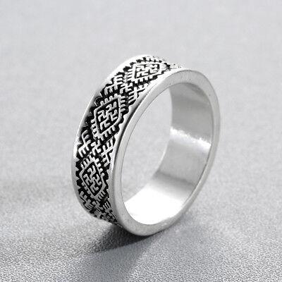 Slavic Men/'s Rings Kolovrat Pagan Jewelry Viking Rune Signet Talisman Bague Ring
