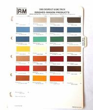 1980 Chevrolet Truck And Gmc R M Color Paint Chip Chart All Models Original