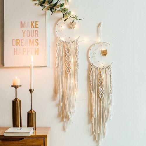 Macrame Woven Wall Hanging Tapestry Boho Chic Bohemian Home Art Decor Moon USA
