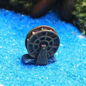 Image Is Loading Figurine Craft Waterwheel Plant Pot Garden Ornament Miniature