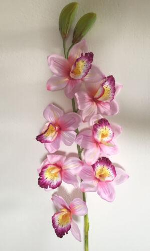 Orchideen Seidenblumen Deko Orchidee rosa  1,15 m  Kunstblumen