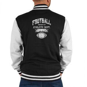 College Herren Football Ball Sport Motiv Jacke Geschenk Biker awxfvnw