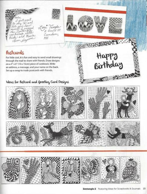 Zentangle 2 Expanded Workbook Edition Featuring Ideas For Scrapbooks And Journals By Suzanne McNeill 2014 Paperback New Sale Online