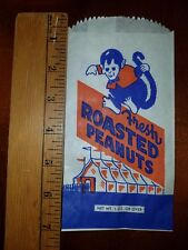 Unused with FREE SHIPPING. 1950/'s MONKEY PEANUT THEATRE /& CIRCUS BAG