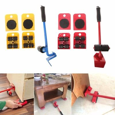 Furniture Lifter Roller Move Tool Labor Saving /& 4 Sliders Up to 330 Lbs
