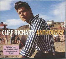 CLIFF RICHARD ANTHOLOGY - 3 CD BOX SET - I LOVE YOU, TRAVELLIN' LIGHT & MORE