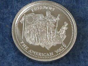 1985-Johnson-Matthey-Freedom-The-American-Way-Silver-Art-Round-B8919