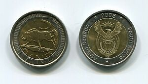 Brand-New-South-Africa-2005-R5-Coin-Uncirculated-Afrika-Dzonga-Km297-ALS