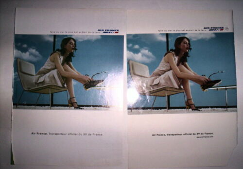 LOT PUBLICITES SPECIAL AIR FRANCE XV DE FRANCE