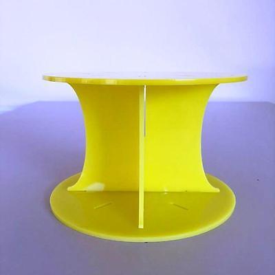 15.2cm-30.5cm Modern Und Elegant In Mode hochzeiten/partys Symbol Der Marke Flach Rund Gelb Kuchen Stumpen/trenner