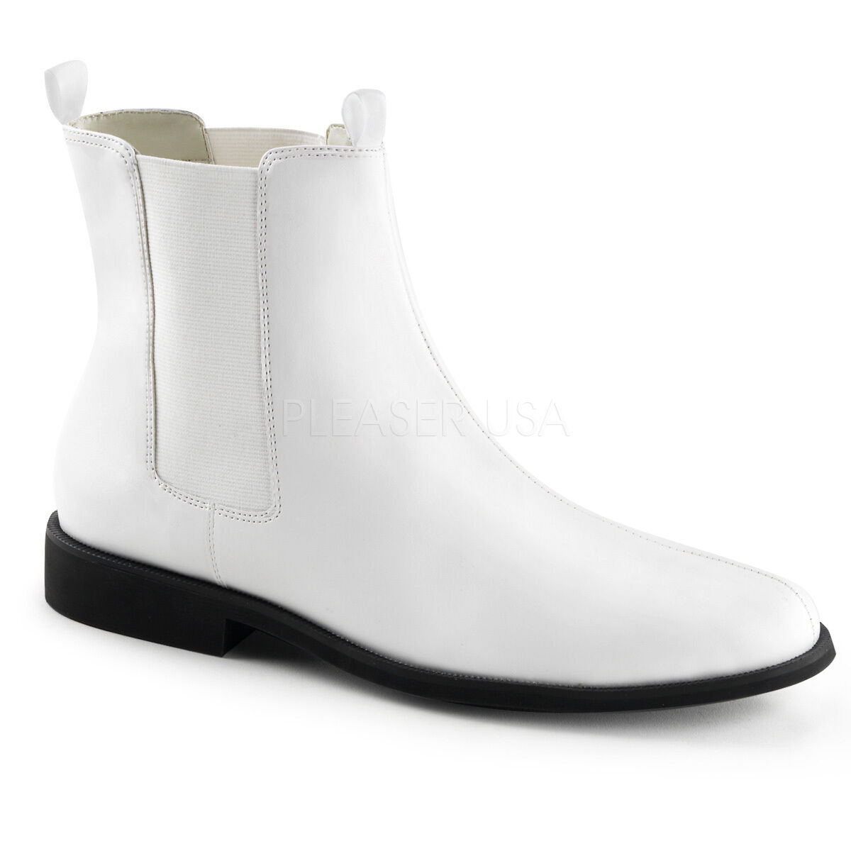 Funtasma Matte White 1  Ankle Storm Trooper Boots Costume Cosplay Mens 8-14