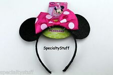NEW DISNEY MINNIE MOUSE PINK BOW-TIQUE EAR SHAPED HEADBAND HAIR HEAD BAND (RP)