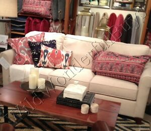 Pleasant Details About Pottery Barn Yara Lumbar Pillow Cover Red 16X26 Ikat Blue Sofa Toss Accent New Ibusinesslaw Wood Chair Design Ideas Ibusinesslaworg
