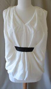 lederen 6 blouse witte maat Wang Nwt 525 Alexander zwart W q6X5W1