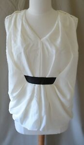 witte maat lederen Nwt blouse 525 Wang zwart W Alexander 6 5UYa7qw