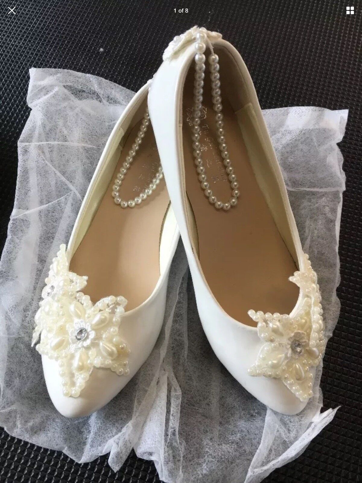 New Jewelled Ballet Bump - Bridesmaid Shoes Size Euro 37