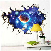 High Quality 3d Wall Sticker Outer Space Planet Home Decoration Art Sticker Yt