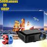 5000 Lumens LED Projector Home Theater USB TV 3D HD 1080P Business VGA/HDMI Lot