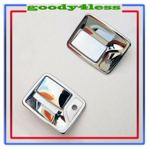 For 99-16 Ford F250 Super Duty Chrome Door Handle Covers SD F350 F450 2 Keyholes