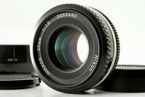 Exc-5-Nikon-Ai-s-NIKKOR-50mm-F-1-8-Pancake-MF-Lens-w-Hood-Cap-From-JAPAN-135