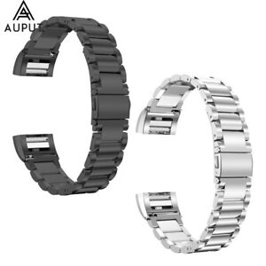 Edelstahl-Ersatz-Armband-Uhrenarmband-fuer-Fitbit-Charge-2-HR
