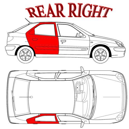 Audi 2004-2009 A4 S4 Cabriolet//Convertible Both Rear Quarter Regulator Kit
