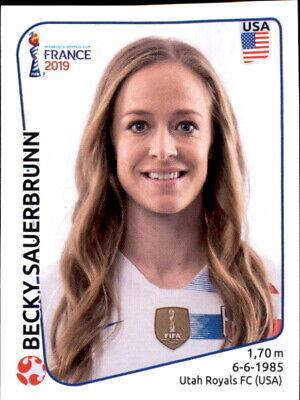 Herzhaft Panini Frauen Wm 2019 Sticker 408 - Becky Sauerbrunn - Usa