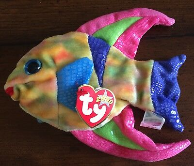 2000 Ty Beanie Bambino Aruba The Pesce Tropicale Originale Da Collezione