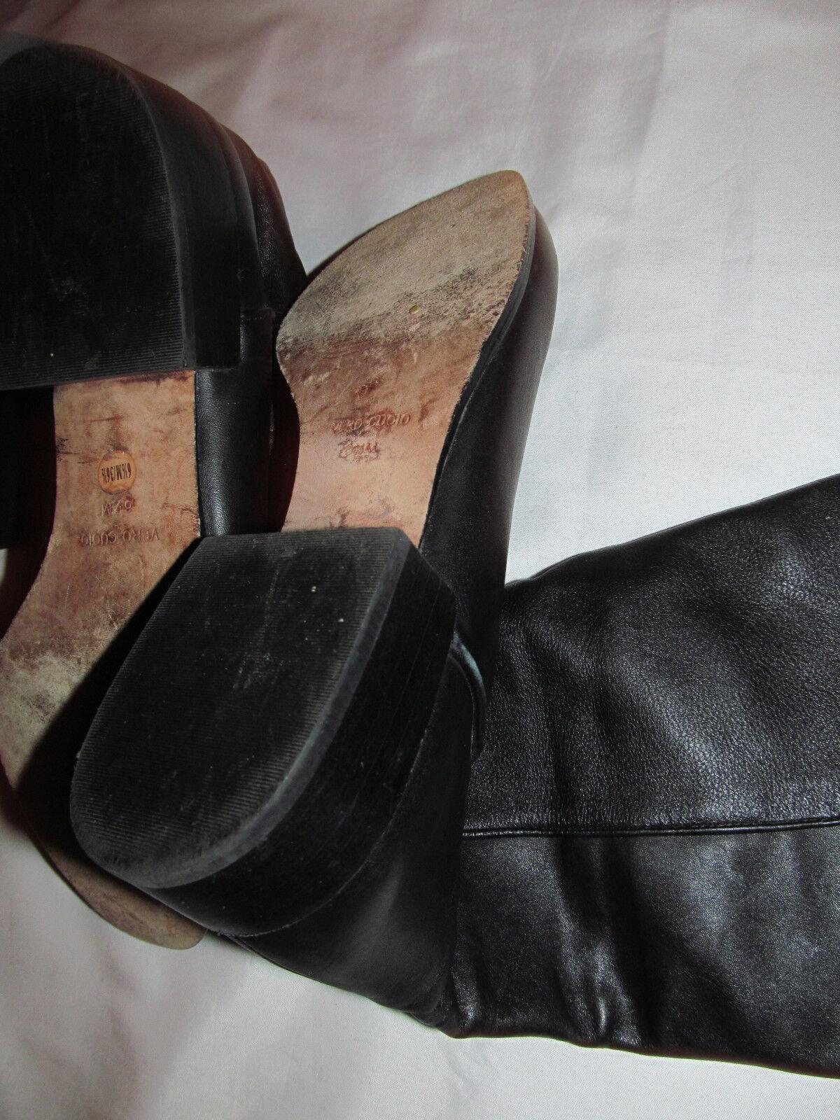 BCBG MAX AZRIA CENTRAL MACHIATO knee high riding straps buckles boots 6.5 M