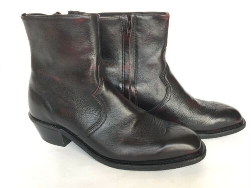Cheap Abilene Men's Black Cherry Short Zipper Ankle Boots 6463 Size 10 Western 15022415794 | eBay for cheap